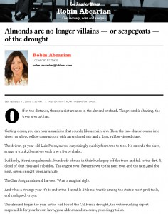 Almonds are no longer villains — or scapegoats — of the drought - LA Times_Page_1
